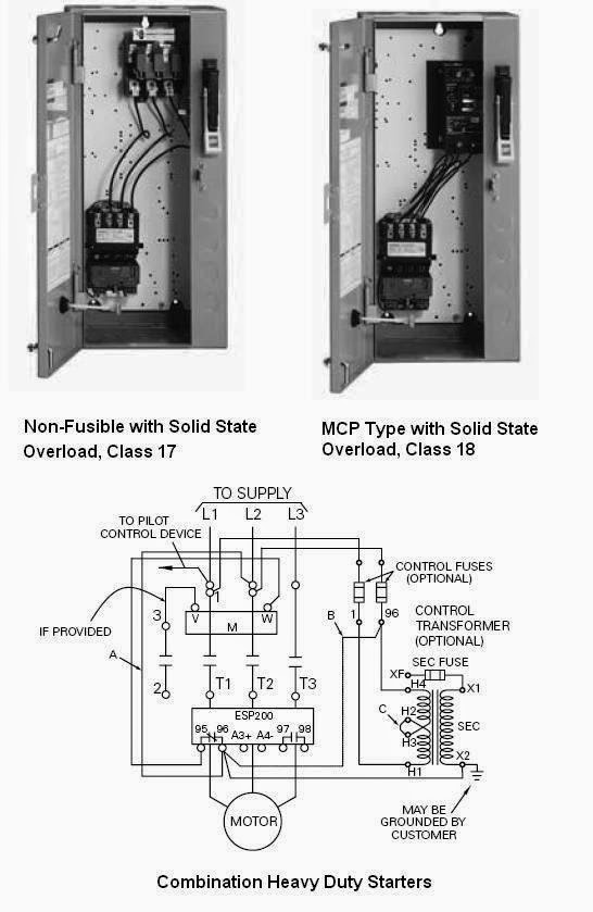 Combination starter disconnect wiring diagram rectifier