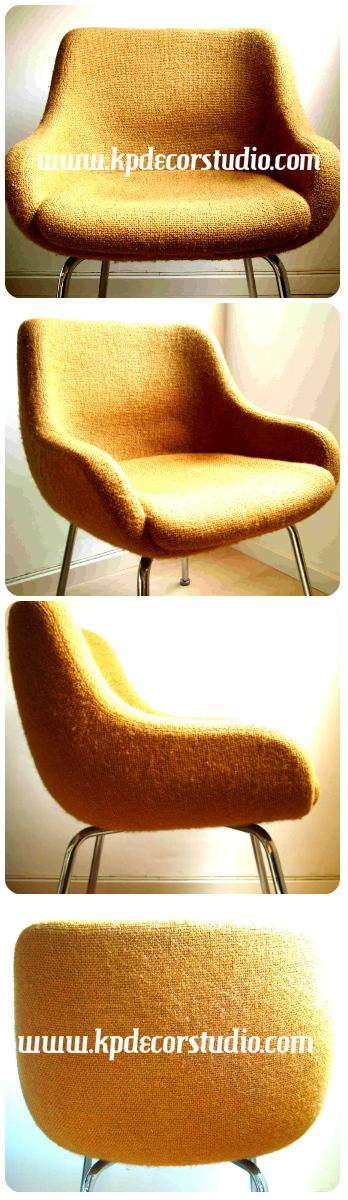 Comprar sillón, butaca, silla, vintage, diseño Eero Saarinen Charles, Eames, estilo retro, pop, líneas curvas, easy chair acheter,  chaise kaufen sthul