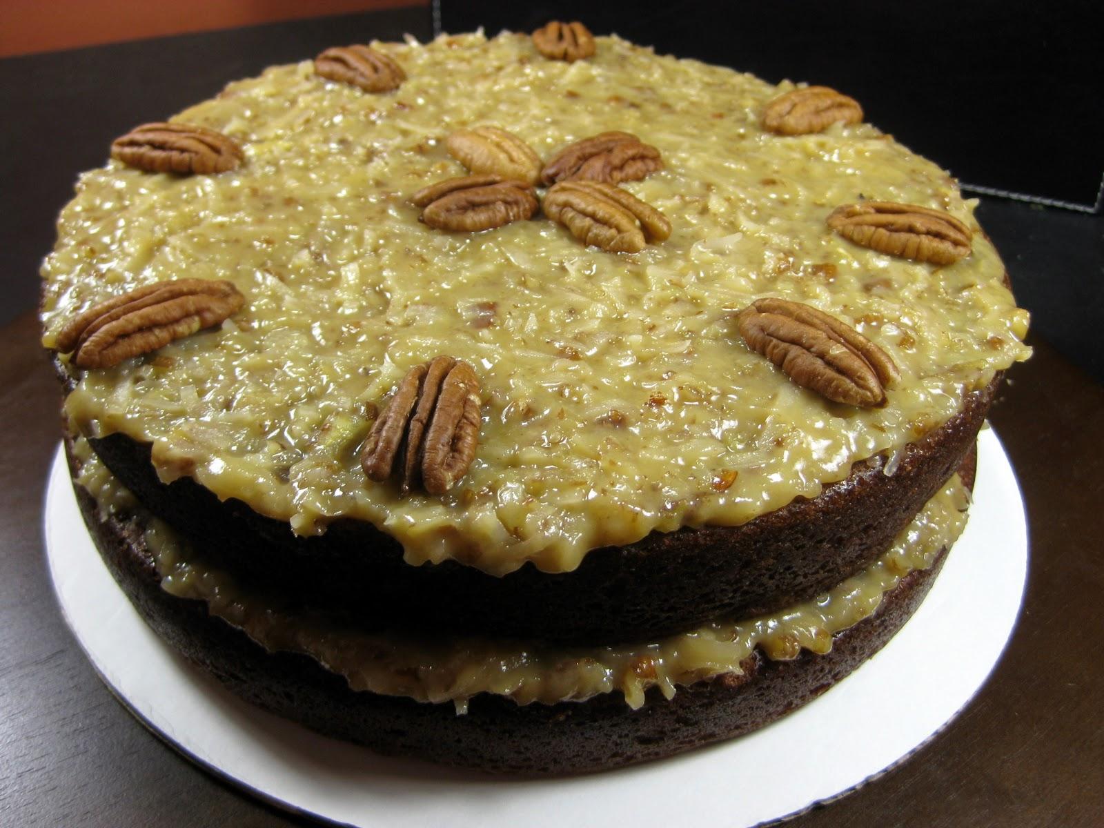 Karis' Kitchen | A Vegetarian Food Blog: 2-Layer German Chocolate Cake