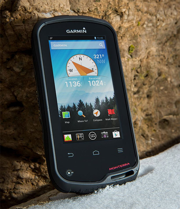 Garmin Monterra (Garmin Monterra Price $650) The new Garmin Monterra is a wi-fi enabled handheld GPS that powered by Android OS. Garmin Monterra lets