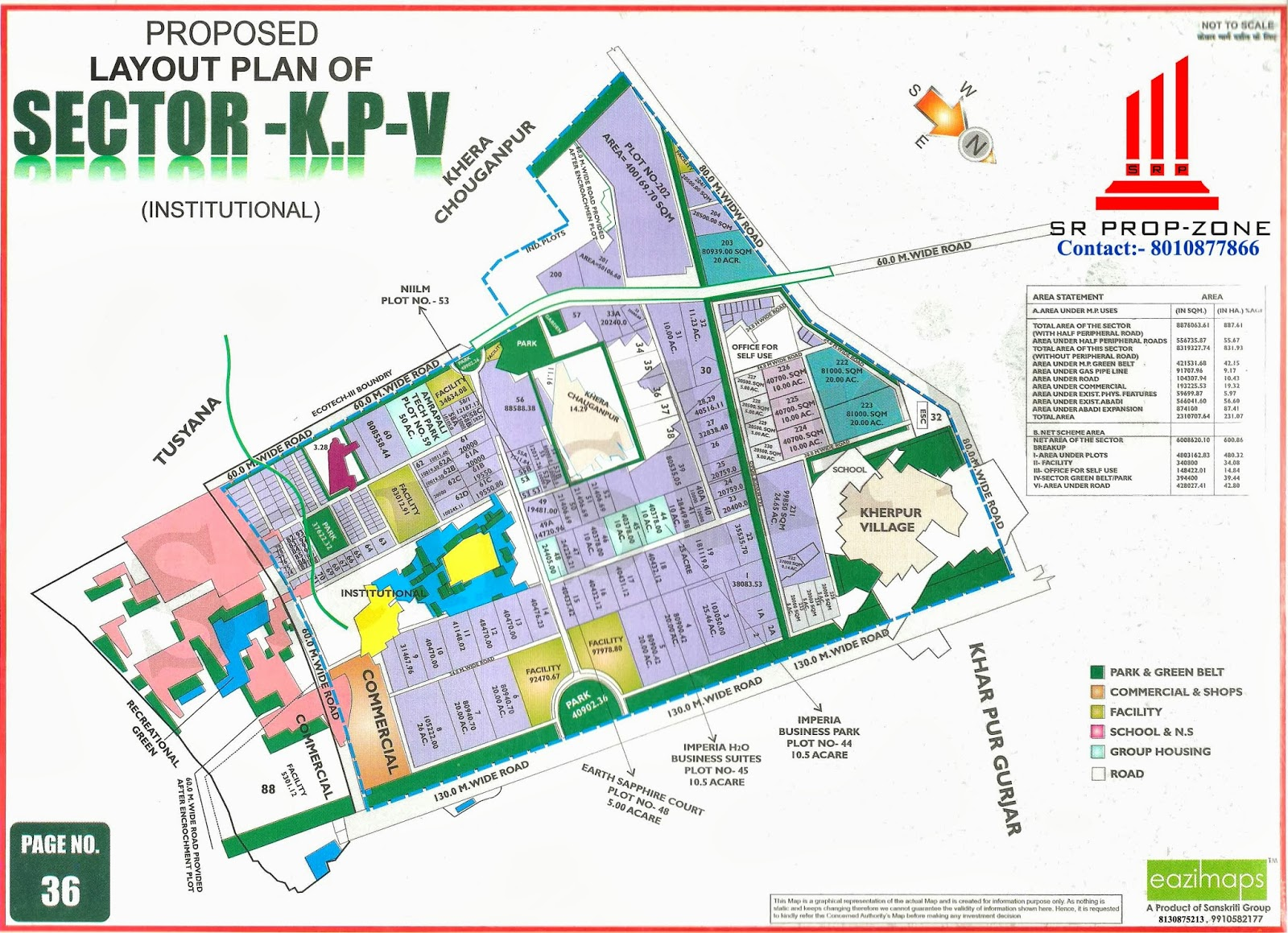 Layout plan of knowledge park v hd quality map greater noida for Zone plan