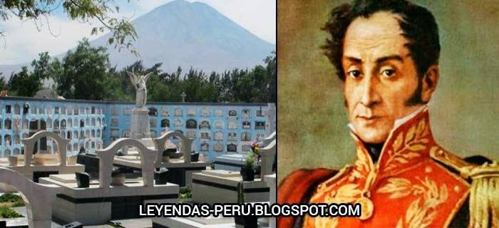 Bolívar y el cementerio de La Apacheta