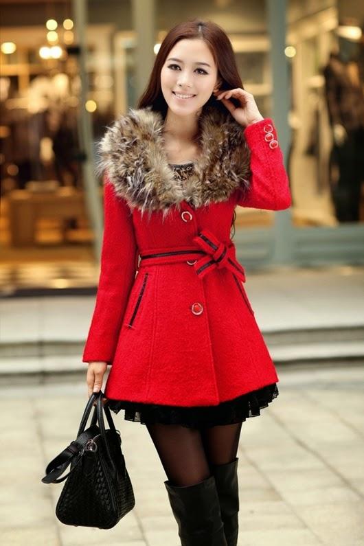 Herbst/Winter rote Bekleidung Kombination