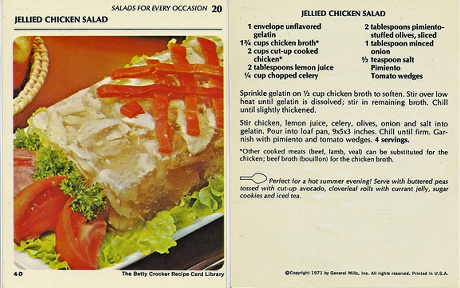 Chicken salad with gelatin: recipes
