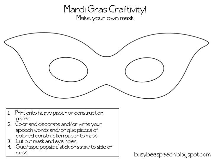 Gallery For gt Mardi Gras Mask Templates Teachers