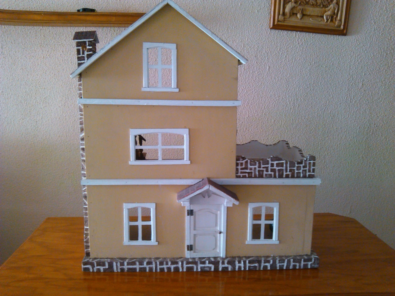 Todo de madera casa de mu ecas - Casa de munecas teatro ...