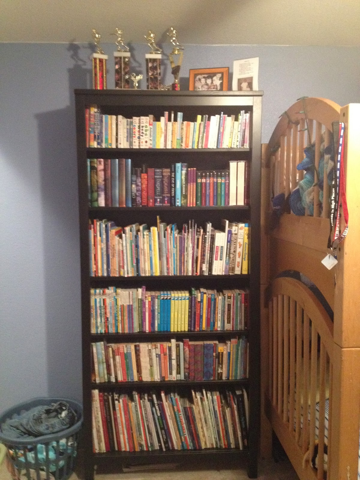 Not All Of The Books Fit On This New Bookcase Even Though Its Quite A Bit Bigger Thats Because Old First Three Shelves Were Stacked