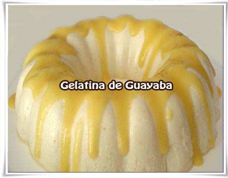 Recetas de postres y helados,  guayaba