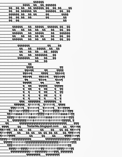 ASCII Happy Birthday Cake For Facebook Cool ASCII Text ...