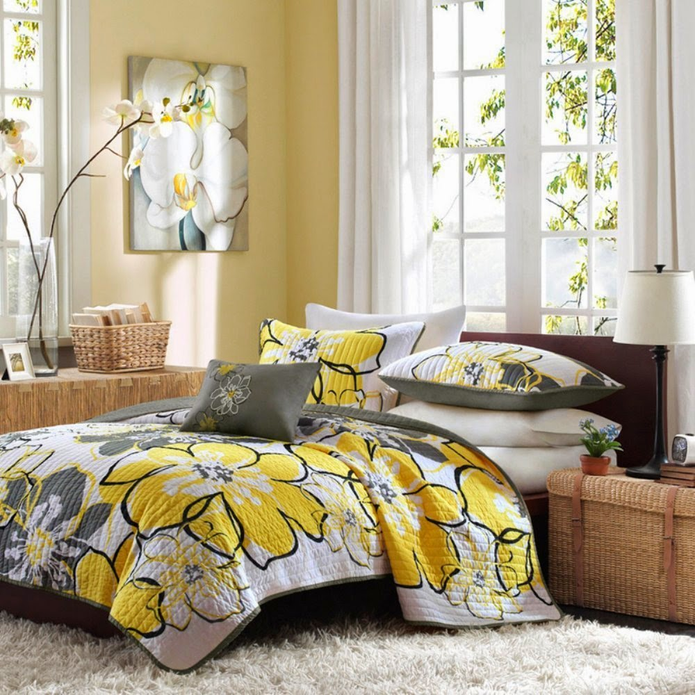 Yellow and black bedding sets - Black And Yellow Bedding Sets With More