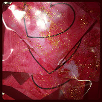 preschooler craft, Valentine's day, hearts, glitter