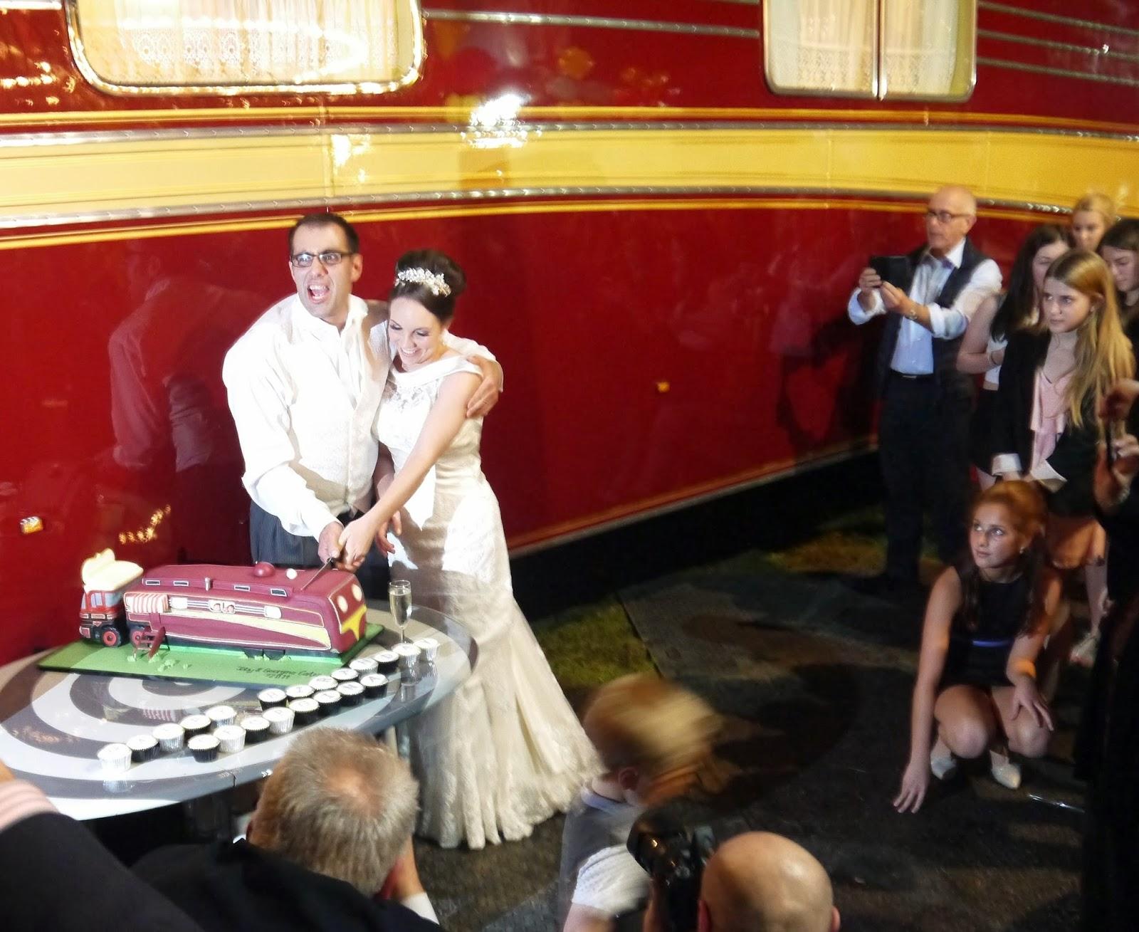 Carters Steam Fair Wedding - Cutting the wedding cake