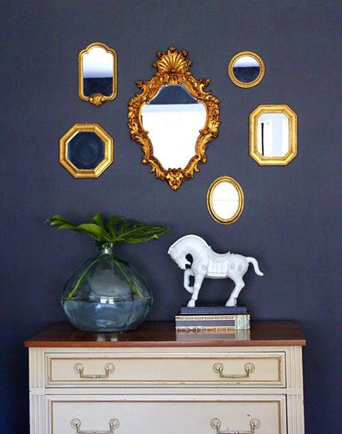 Idea para decorar la pared llenarla de espejos lua nord - Espejos para decorar paredes ...