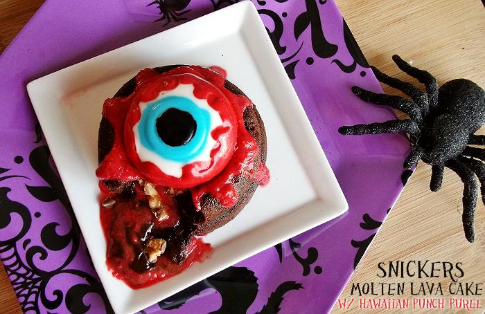 Halloween lava cake recipe