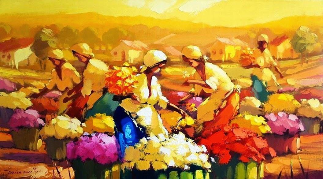 mujeres-recolectoras-de-flores-en-espatula