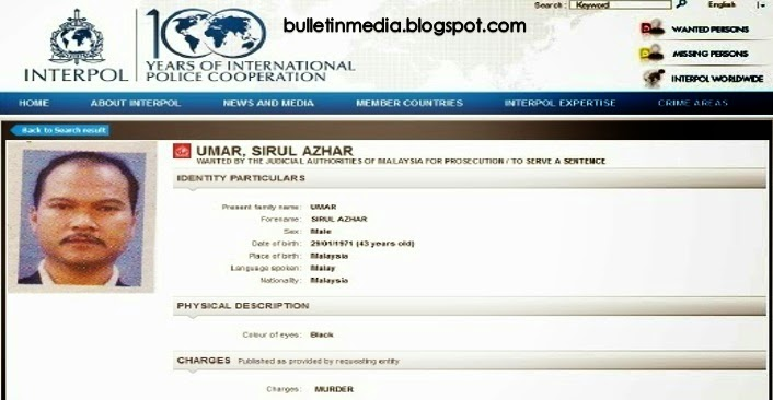 Akhirnya Sirul Azhar Telah Ditahan Oleh Interpol Di Australia
