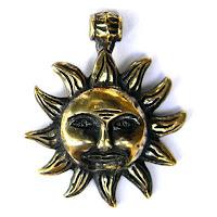 купить кулон солнце подвеска в виде солнца бронза глюкоморье
