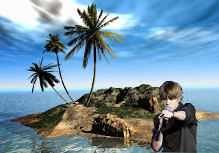 Justin Bieber in Concert at 3d Desert Island Desktop wallpaper for the fans