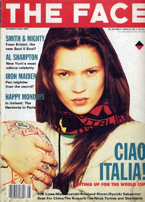 First Kate Moss cover ever  THE style bible from all magazines in de 80's and 90's The Face magazine