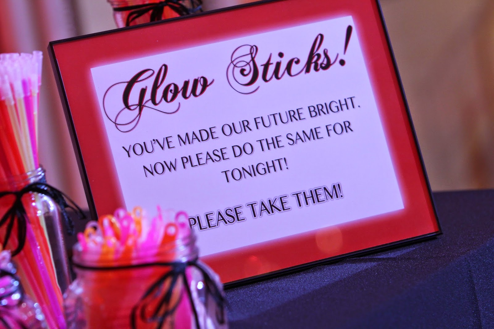 GotPrint's glow sticks for holiday party 2014