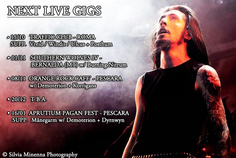 Vinterblot, Fall 2014, Live Gigs