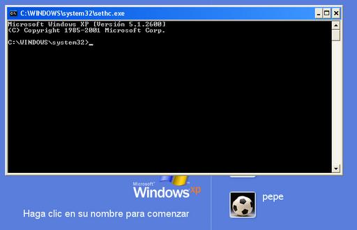 ver clave winxp comando: