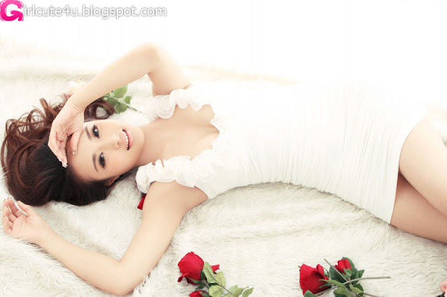 Yang-Zi-Re-White-Dress-03-very cute asian girl-girlcute4u.blogspot.com