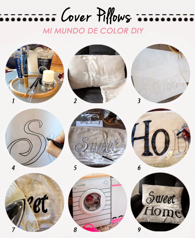 diy step by step cover pillows