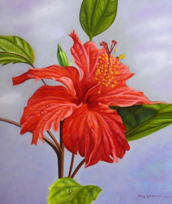 Imagenes De Cuadros Con Flores Blancas - Como pintar con acrílico y espátula Cuadro flores abstractas