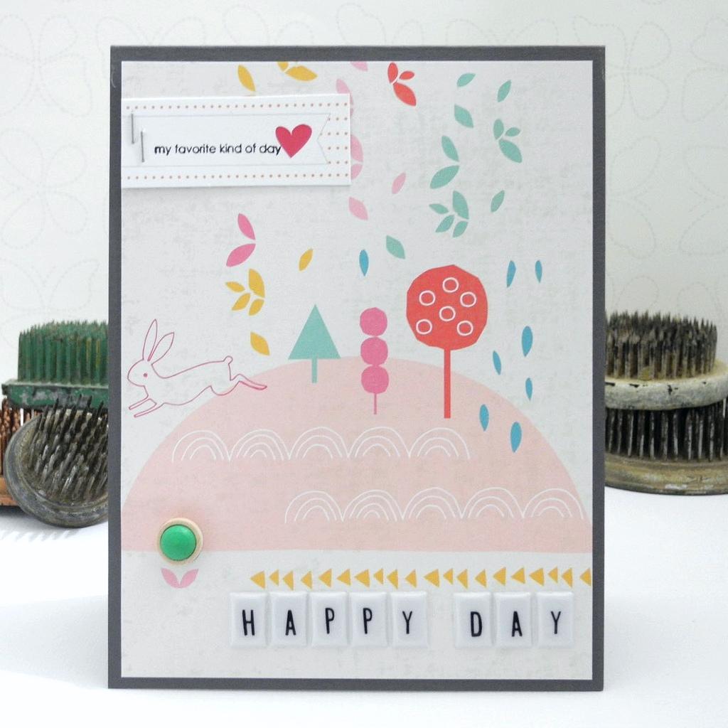 Happy Day by Jennifer Ingle #pinkfreshstudio #upintheclouds #embellishmentkit #cards
