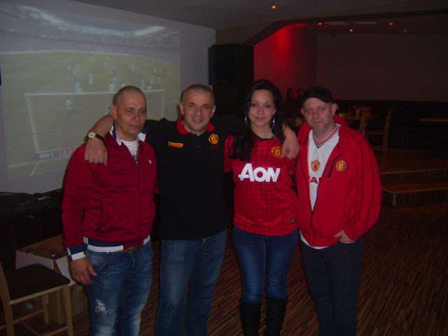 Manchester United fans in Bulgaria