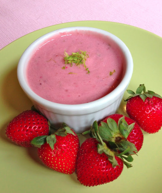 easy vegan strawberry pudding