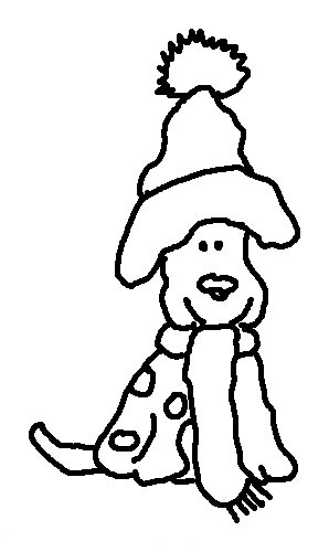 coloring pages dogs christmas - photo#30