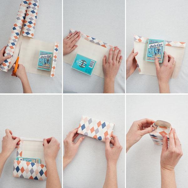 Nicht nur zu Weihnachten eine gute Idee – Geschenkverpackung selbermachen, Tüte aus Tapete