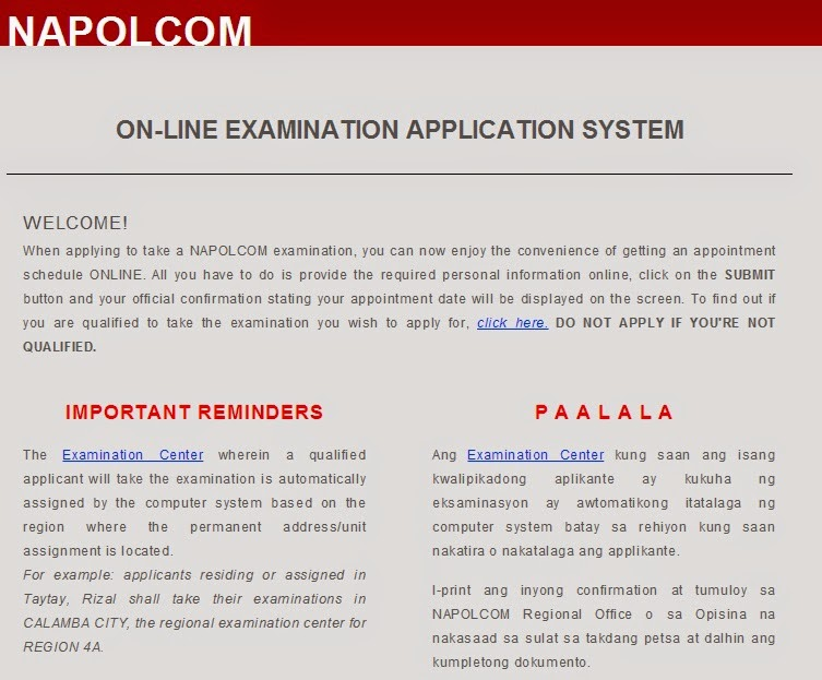 NAPOLCOM OLEASS for Promotional exam November 2014