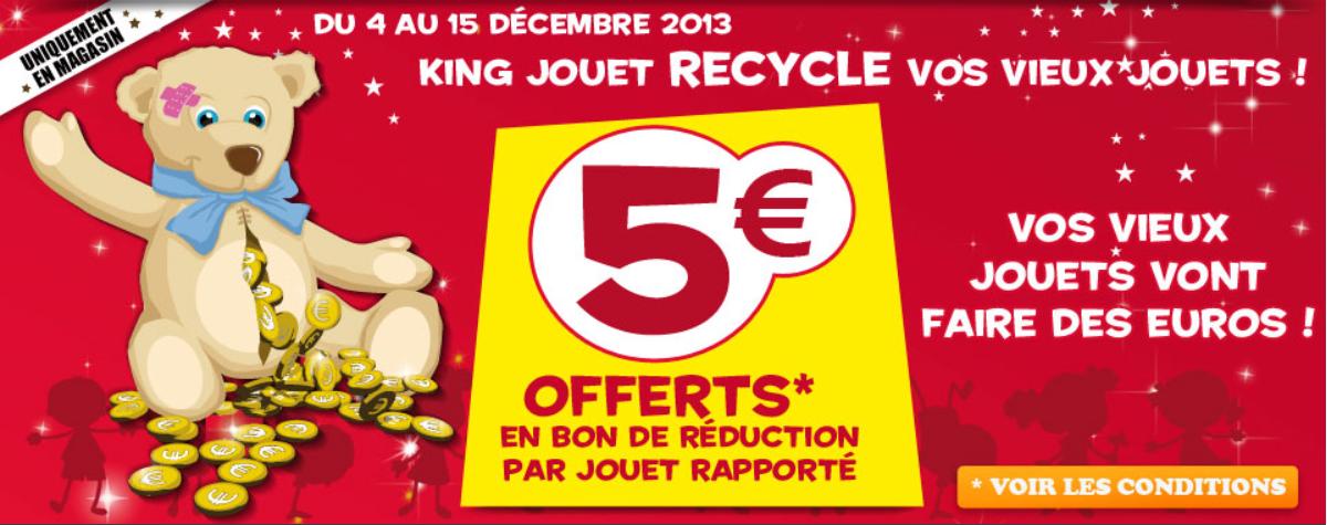 Le blog malin king jouet recycle vos vieux jouets 5 - Code promo king jouet frais de port gratuit ...