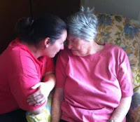 Mother at 84 with her grandaughter
