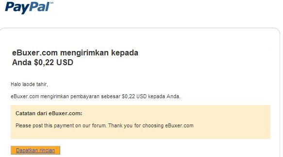 Pembayaran Pertama eBuxer