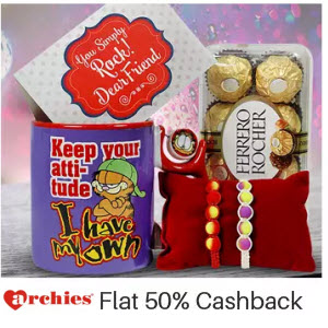Archies Extra 50% Cashback (No Minimum Purchase)
