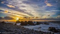 New Zealand beach sunset rocks colors sun Chris Baer WhereIsBaer.com south island