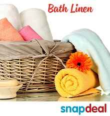 Snapdeal : Bath Linen Products at Upto 52% OFF : BuyToEarn