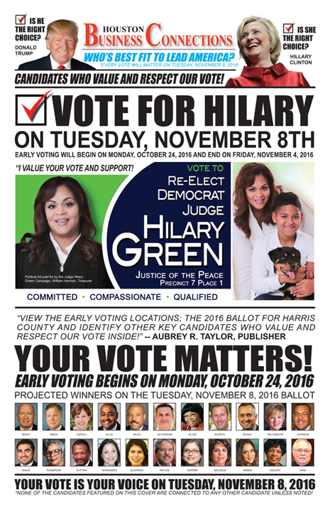 JUDGE HILARY GREEN VALUES OUR VOTE, SUPPORT AND COMMUNITY!