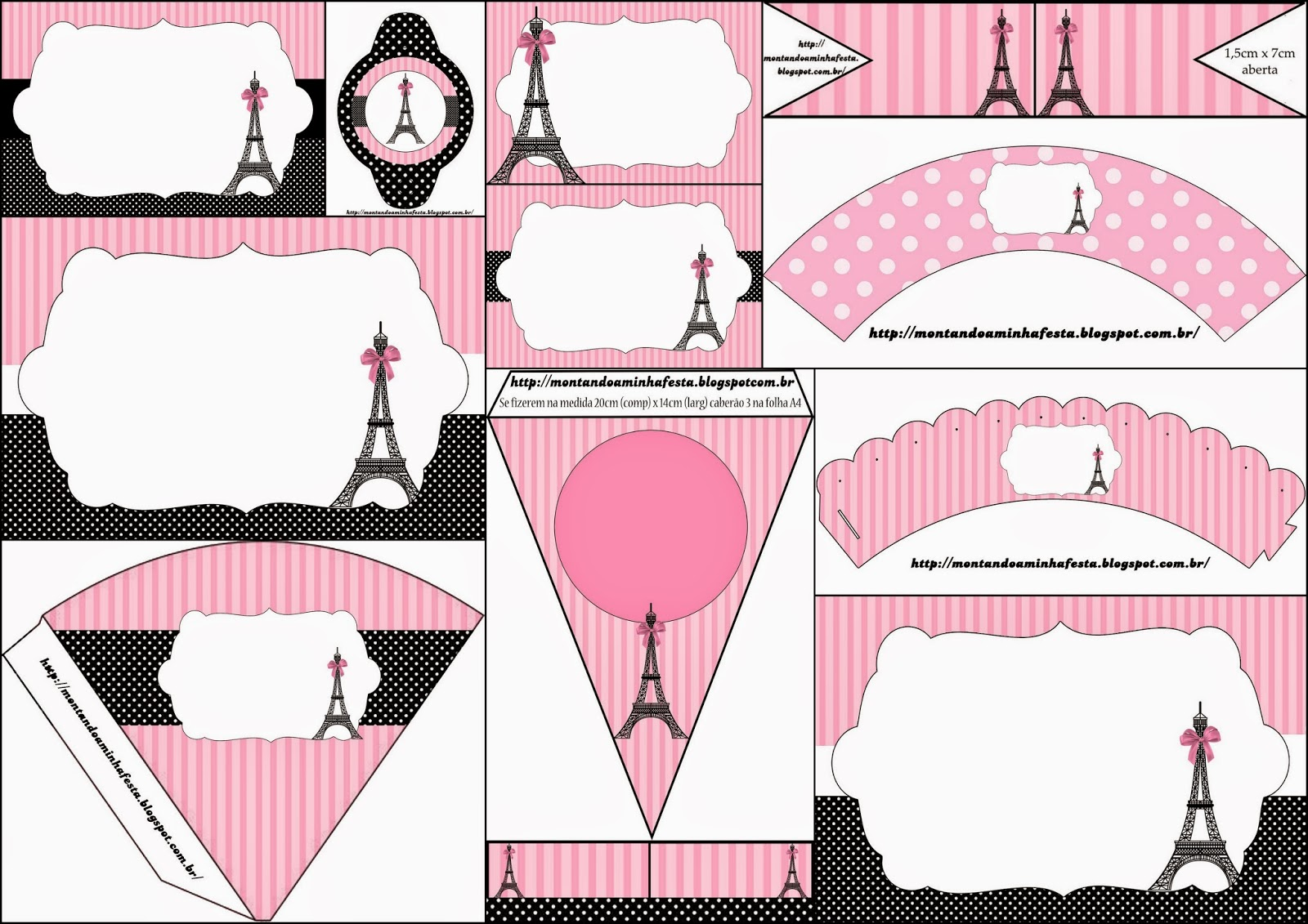Paris: Invitations and Free Party Printables. | Oh My Fiesta! in english