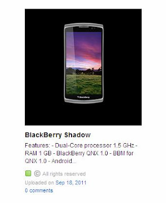 BlackBerry Shadow with QNX 1.0 OS