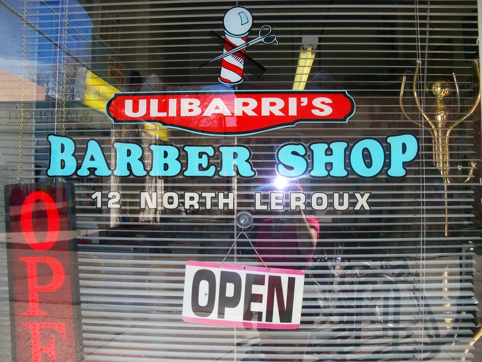 This type really works for the old fashioned barber shop window look