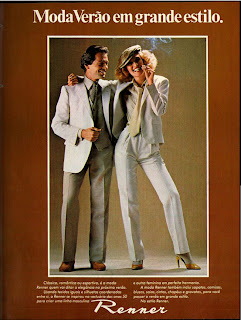 anúncio roupas marca renner de 1979.  Moda anos 70; propaganda anos 70; história da década de 70; reclames anos 70; brazil in the 70s; Oswaldo Hernandez