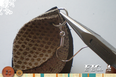 eco jewelry: leather earring tutorial