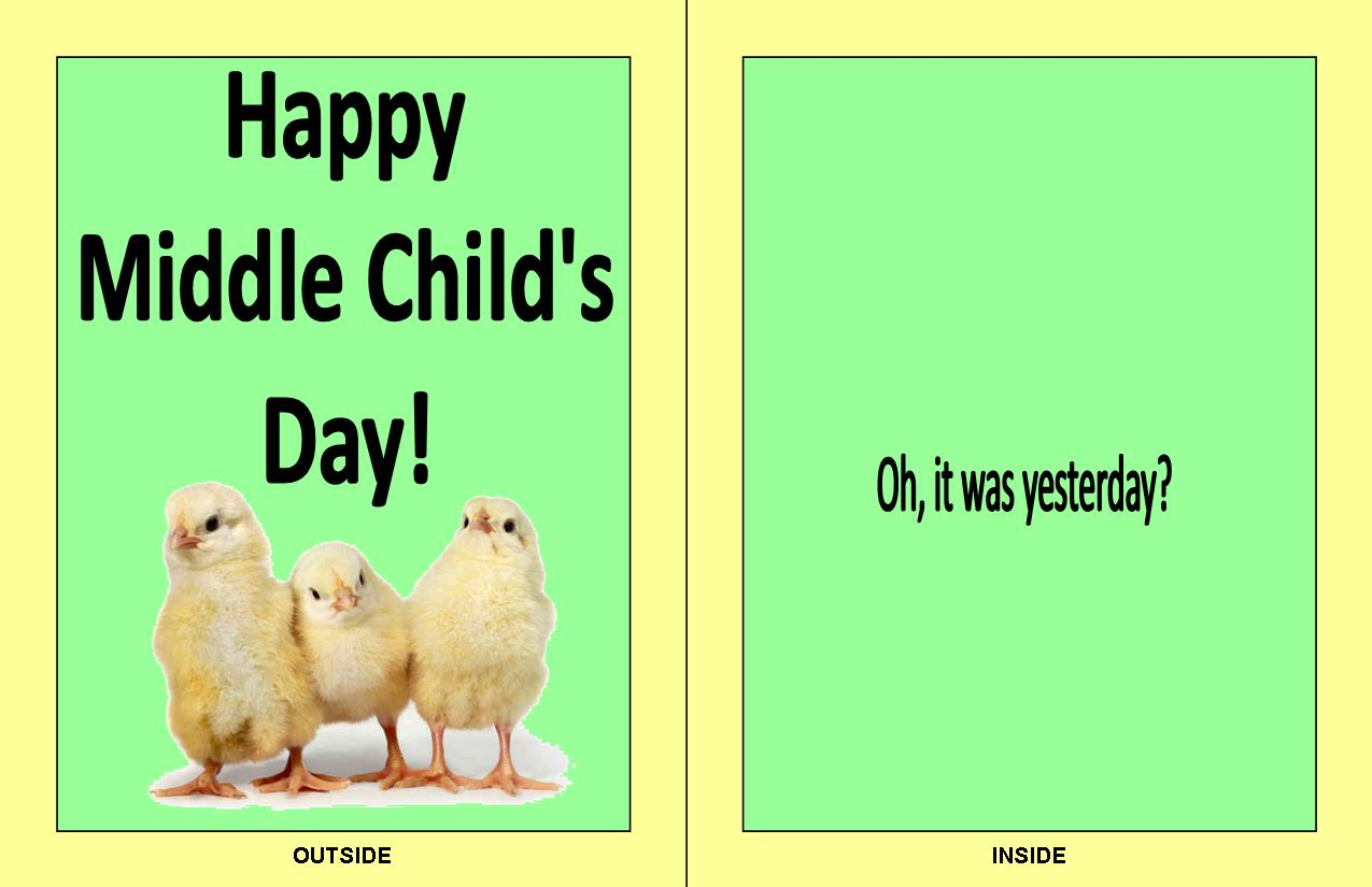 smack dab  a middle child u0026 39 s blog  who needs hallmark  the