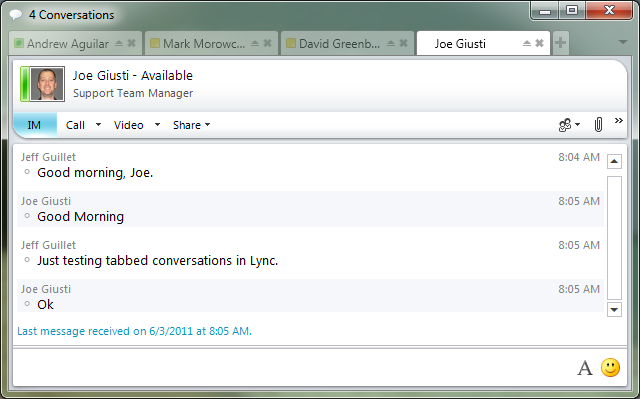 Tabbed Conversations for Microsoft Lync 2010 | The EXPTA {blog}