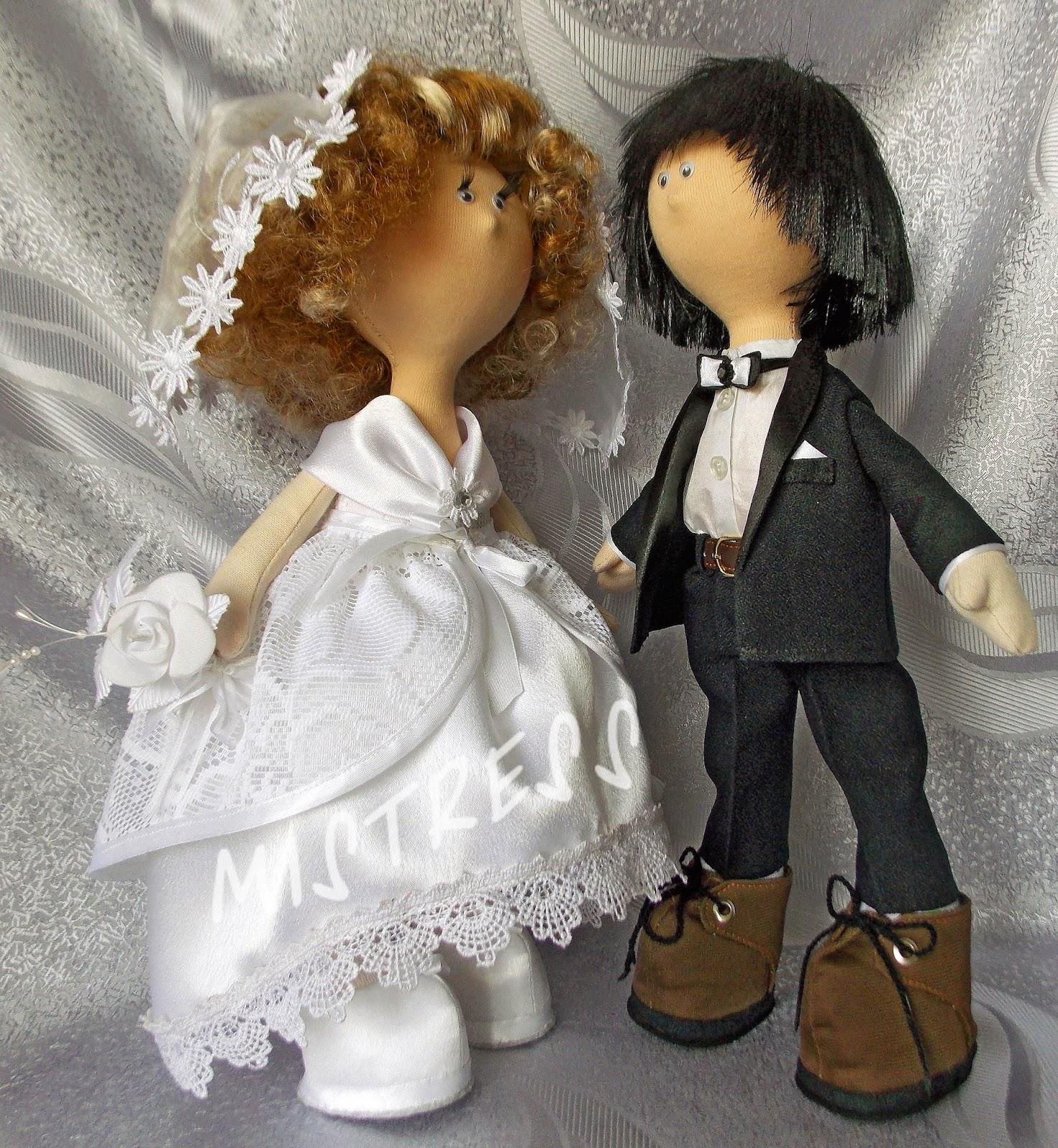 Своими руками невеста и жених кукла сшить 88